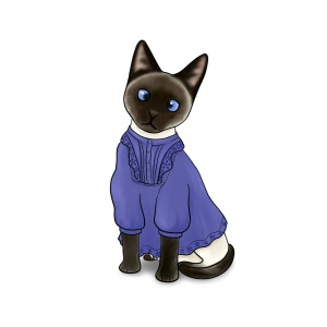 Siamese Cat in a Smock