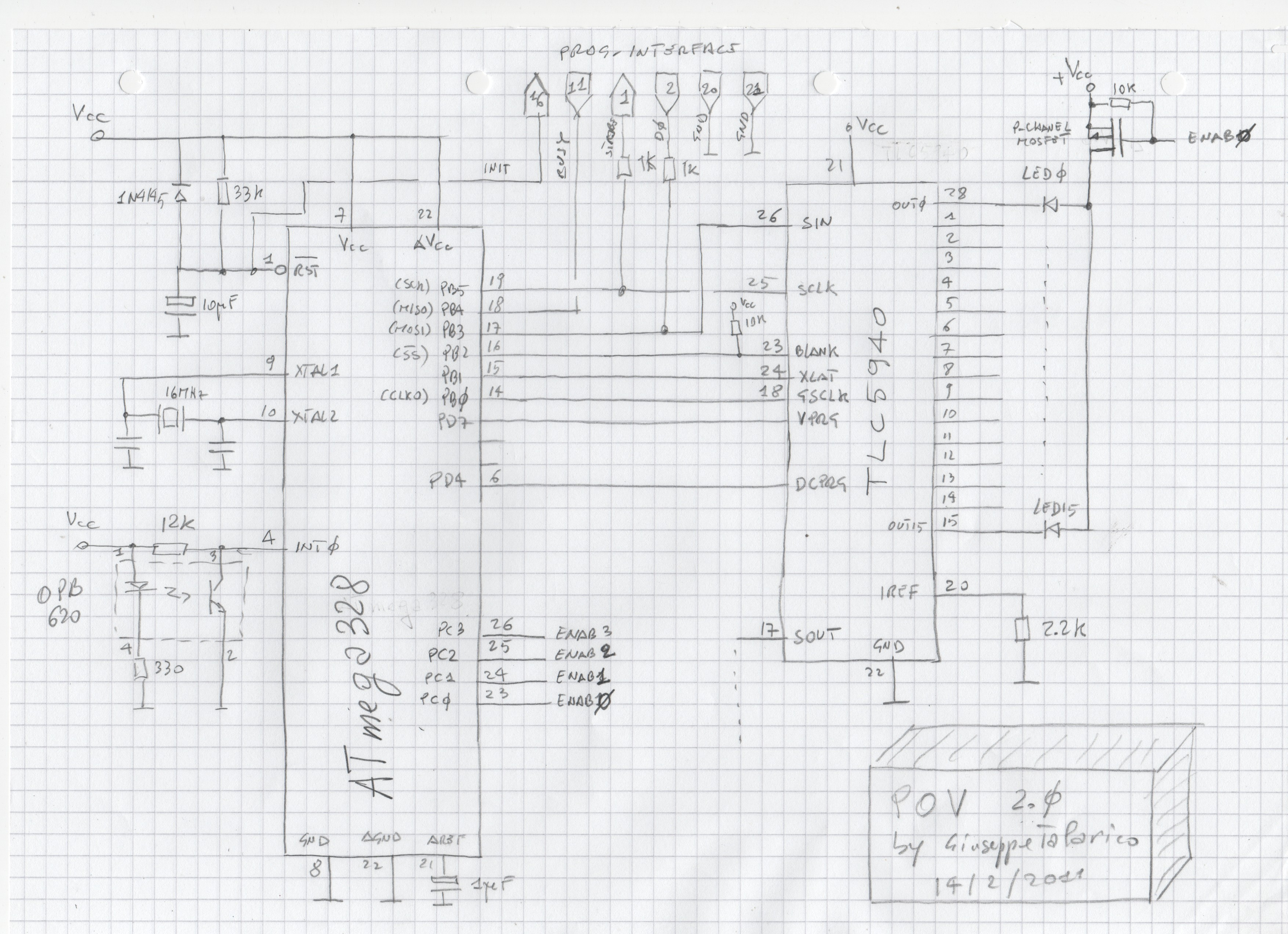 Pov Propeller Clock 2 0 Schematic
