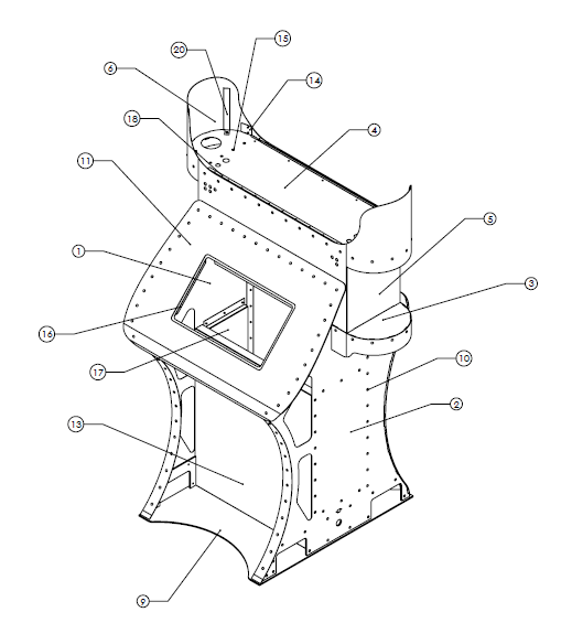 mobile 3d face scanner display CAD drawing