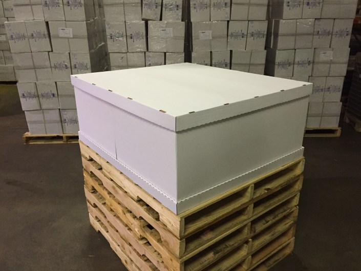 The complete pallet. shipping packaging