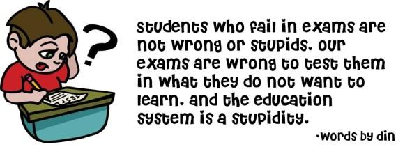 Failed in exam