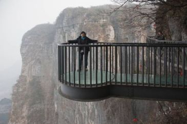 The summit of Tianmen Mountain and Zhang Jiajie