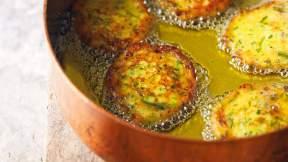 IRANIAN (PERSIAN) Persian potato patties with garlic chives (kuku-ye sibzamini)