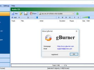 gBurner 4.8 Free Download