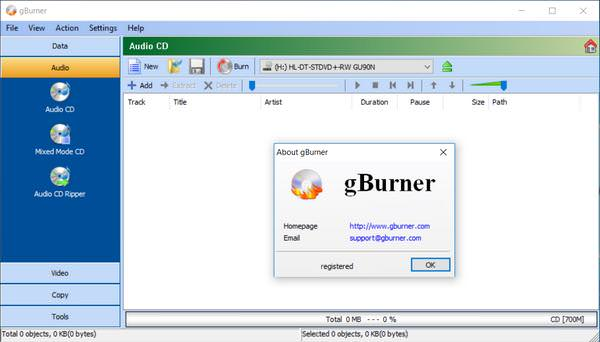 gBurner 4.8 Free Download
