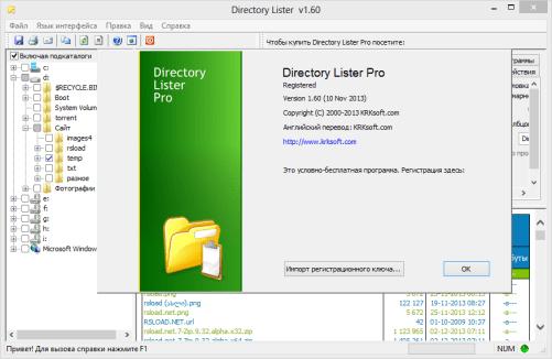 Directory Lister Enterprise 2.39 Screenshot 1