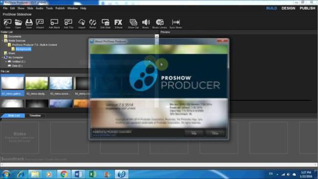 Photodex ProShow Producer Screenshot 1