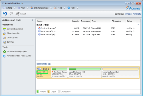 Acronis Disk Director 12.5 Screenshot 1