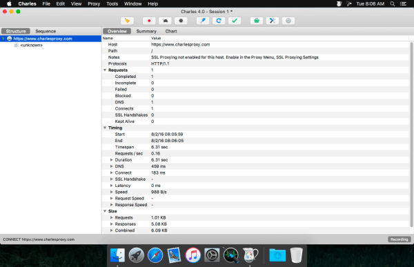 Charles Web Debugging Proxy 4.2 Screenshot 1