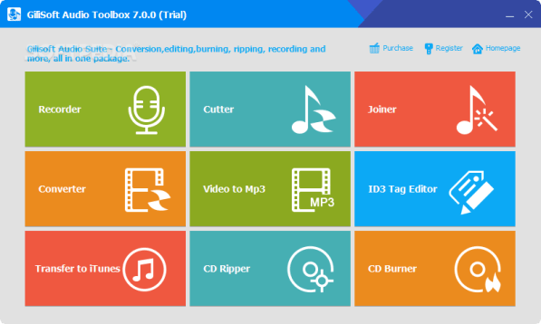 GiliSoft Audio Toolbox Suite 7.2.0 Screenshot 1