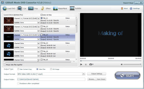 Gilisoft Movie DVD Converter Screenshot 2