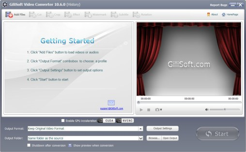 Gilisoft Video Converter 10.7 Screenshot 1
