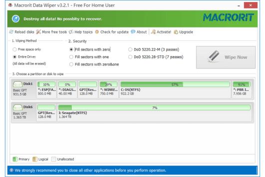 Macrorit Data Wiper 4.6 Screenshot 1