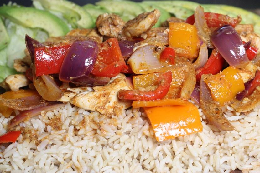 Fajita Chicken Platter Properfoodie.com