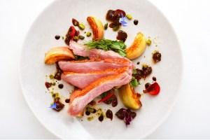Ashburton chefs Academy pink roasted duck breast salad