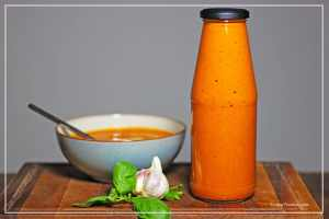 Roasted Red pepper and Tomato soup in a Jar