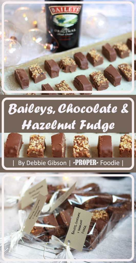 Baileys, chocolate and hazelnut fudge