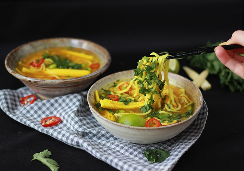 Turmeric, Lemongrass and Noodle Detox Broth
