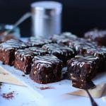 Chocolate brownies chocolate on chocolate