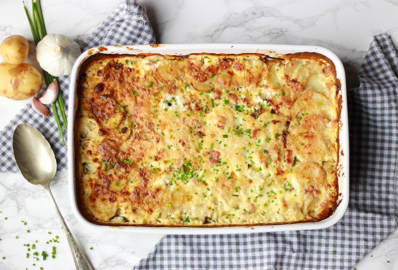 Haddock dauphinoise with Cypriot potatoes