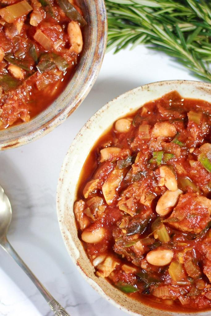 tuscan pork and white bean stew