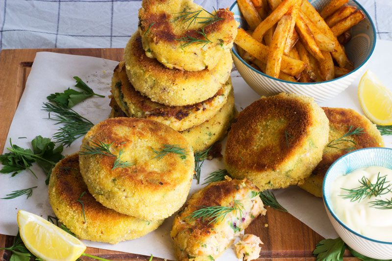 Smoked Salmon and Mackerel Fishcakes
