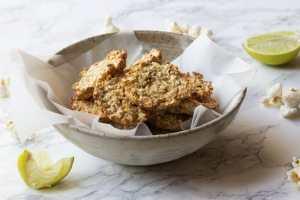 lime and coriander popcorn bites
