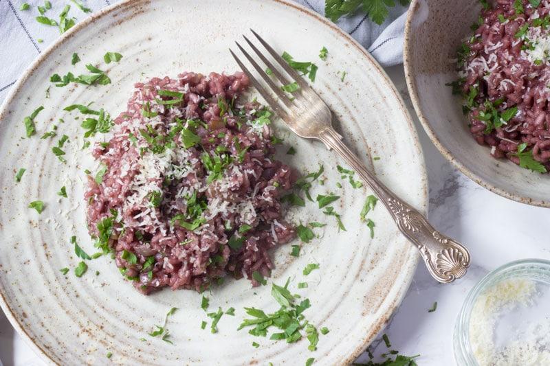Italian red wine risotto