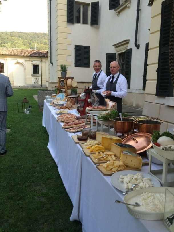 italian wedding canapes villa bertani