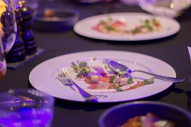mid feast at Malmaison