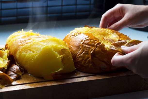 oven baked pumpkin