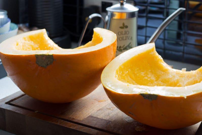 pumpkin halved