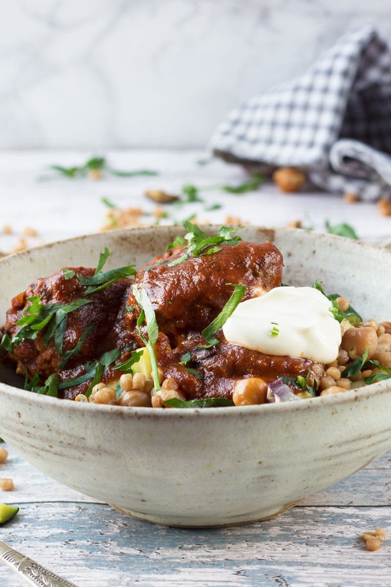 moroccan meatballs with cous cous