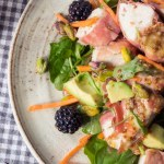 chicken winter salad with mustard dressing