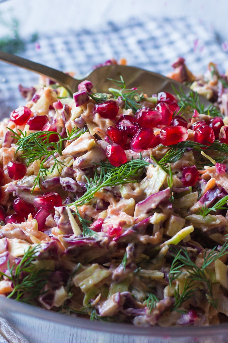 curried christmas coleslaw