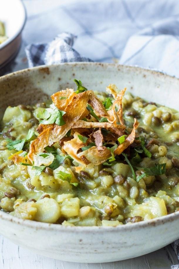 parsnip barley green risotto