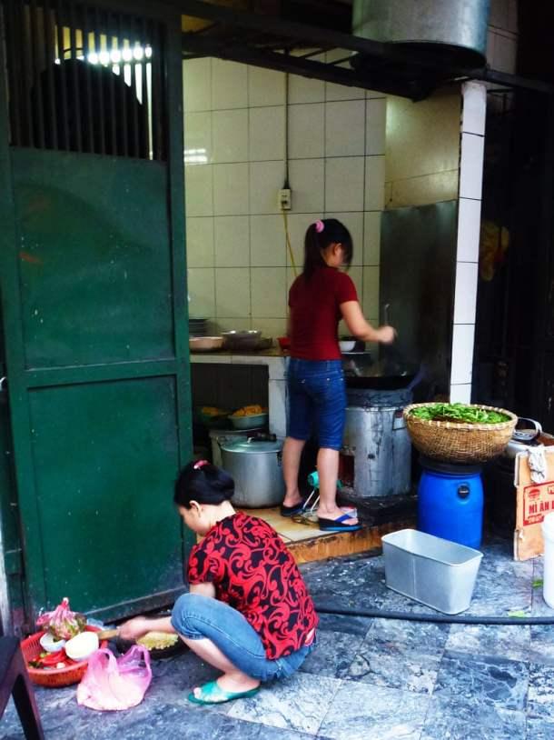 Vietnam street food kitchen