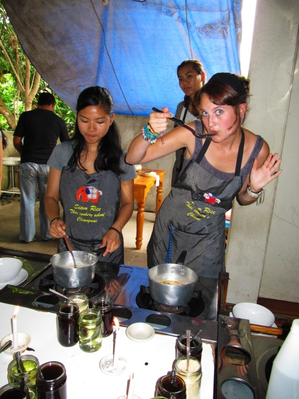 taste test at Siam Rice cookery school