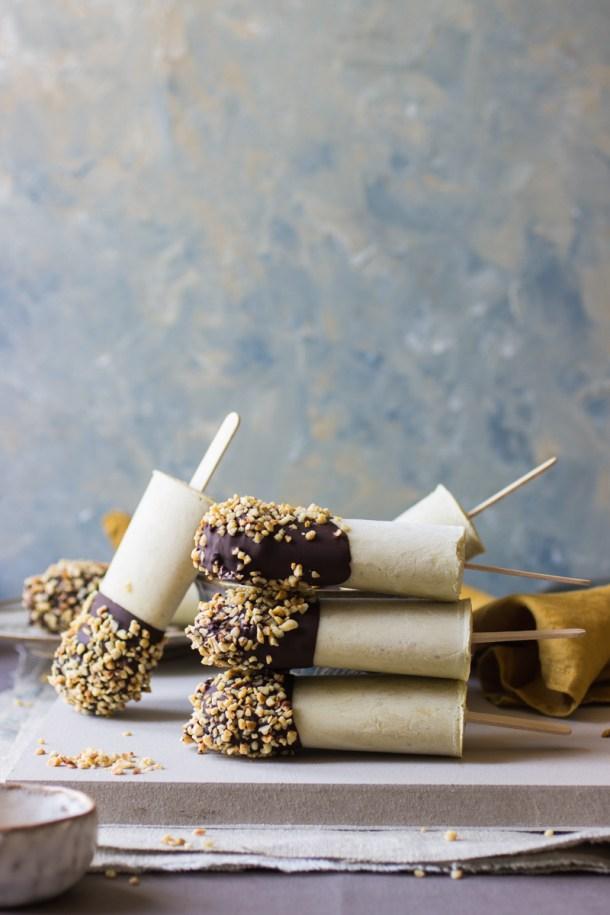 Summer ice lolly recipe: mint ice cream coated in dark chocolate