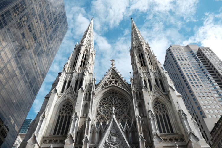 Photo of St. Patrick's cathedral in Manhattan