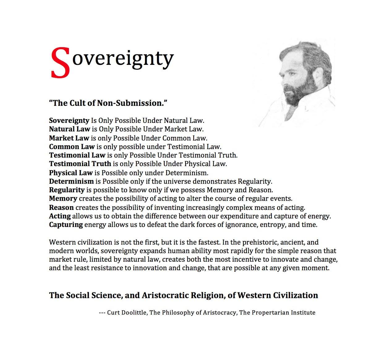 Sovereignty: The Distillation of Western Civilization
