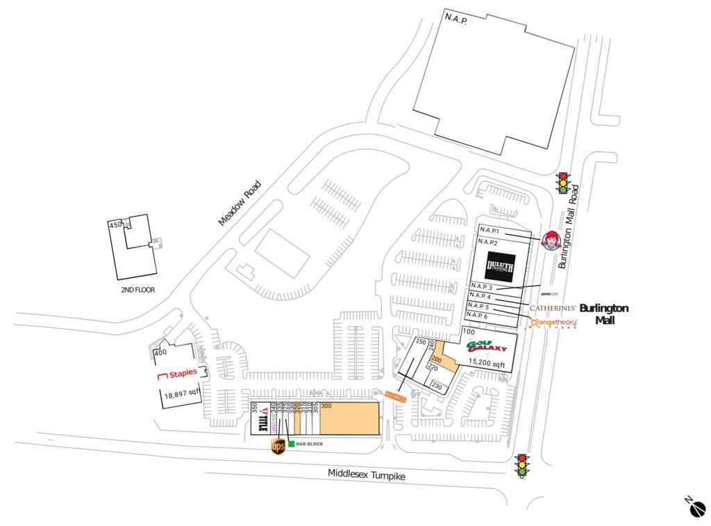 Burlington, Ma  Available Retail Space & Restaurant Space
