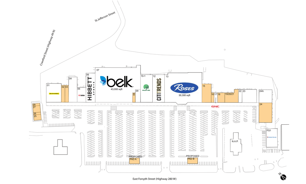 Americus, Ga  Available Retail Space & Restaurant Space