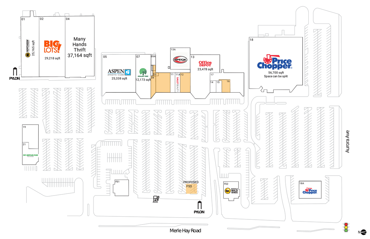 Des Moines, Ia  Available Retail Space & Restaurant Space