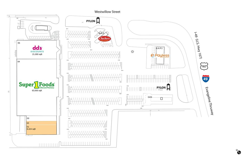 Lafayette, La  Available Retail Space & Restaurant Space