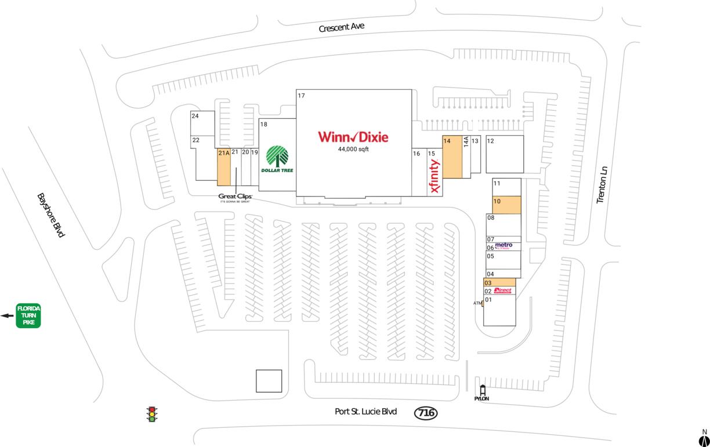 Port St Lucie, Fl  Available Retail Space & Restaurant