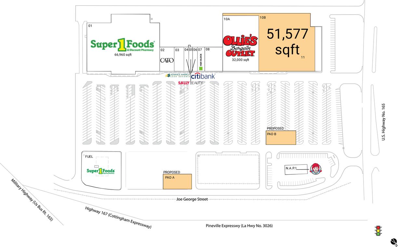 Pineville, La  Available Retail Space & Restaurant Space