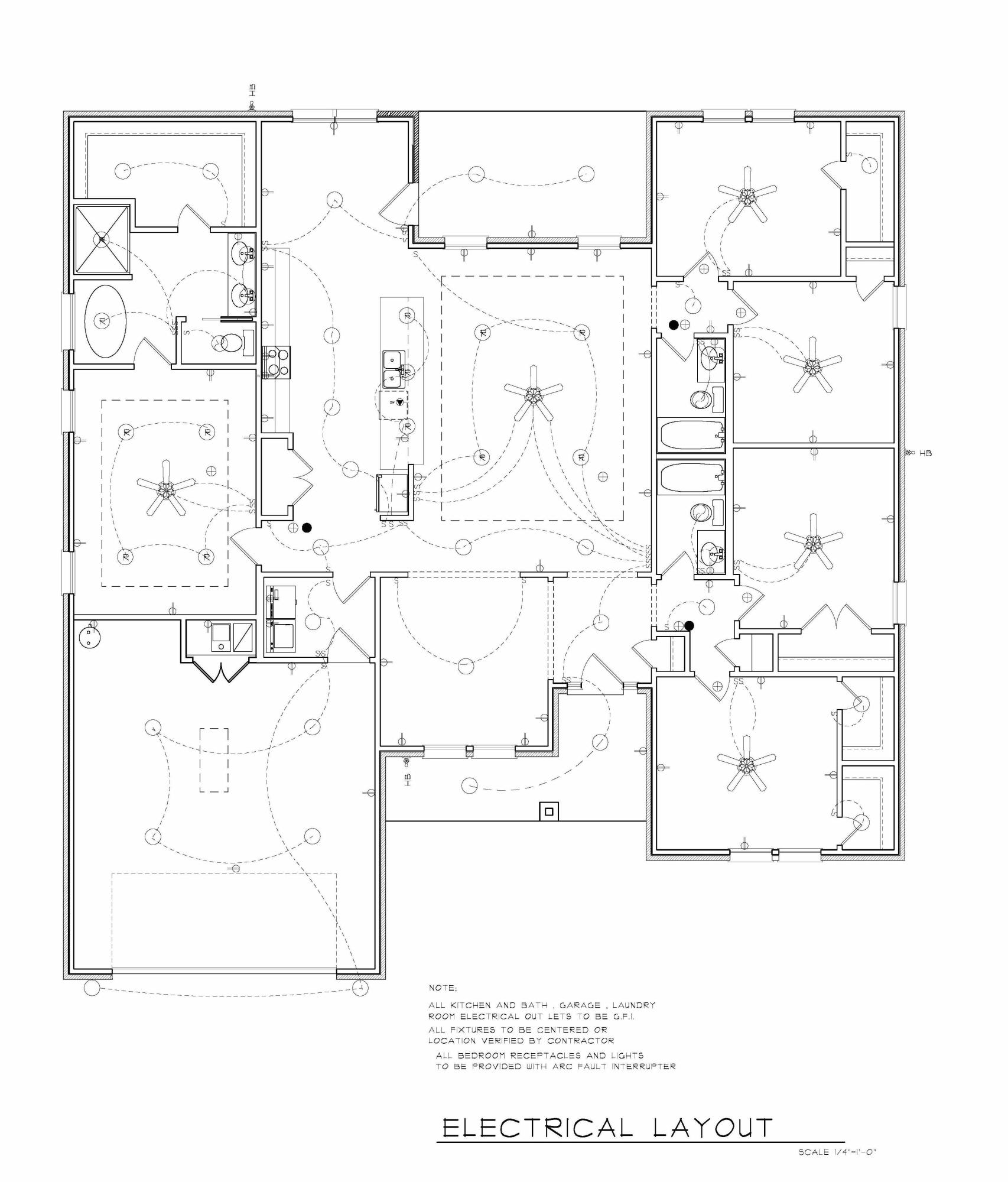 hight resolution of garage electrical layout