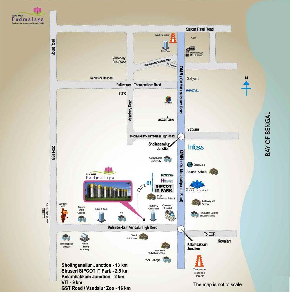 Location Map Real Value Padmalaya Near Siruseri SIPCOT