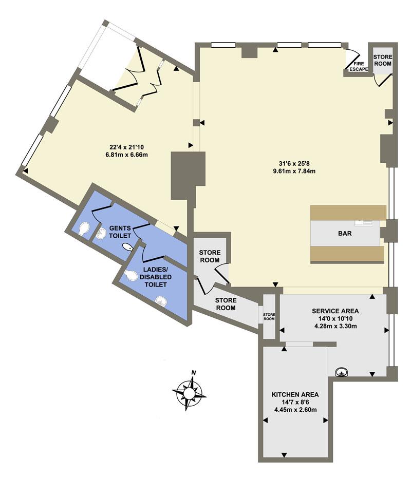 2D Floor Plans in colour